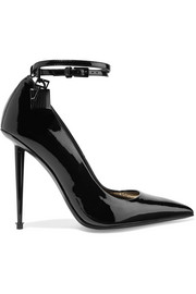 TOM FORD Padlock patent-leather pumps
