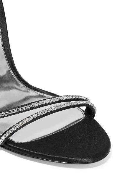 TOM FORD | Sandalen mit aus Satin mit Sandalen Kristallen b8e2b8
