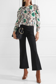 Isabel Marant Nyree cropped cotton-blend flared pants