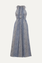 Ulla Johnson Augustine floral-print plissé silk-blend gauze maxi dress