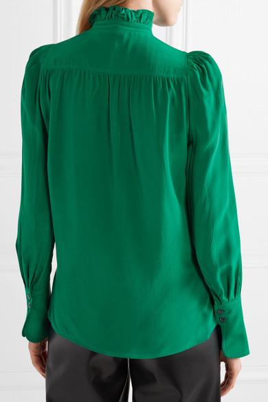 1e9423e1638d5 Isabel Marant. Lamia ruffle-trimmed silk blouse.  469. Play