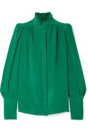 Isabel Marant Lamia ruffle-trimmed silk blouse
