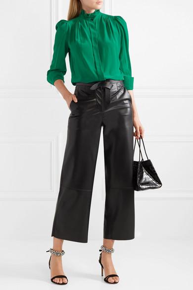 62c6b5e4c73c0 Isabel Marant. Lamia ruffle-trimmed silk blouse