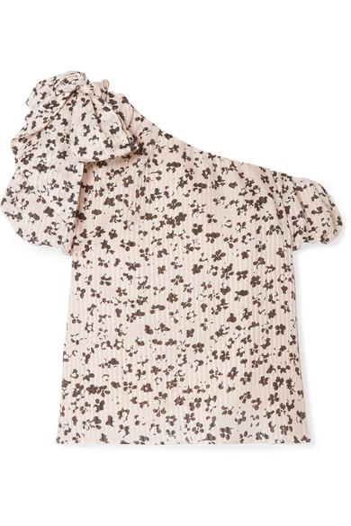 3f9cb1576e2f0 Ulla Johnson. Femi one-shoulder floral-print cotton and silk-blend top