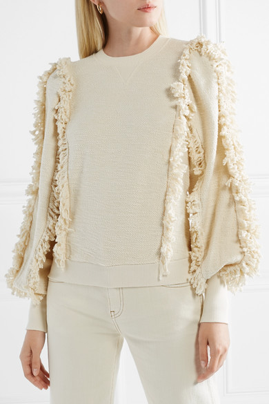 Hali Fringed Cotton Terry Top by Ulla Johnson