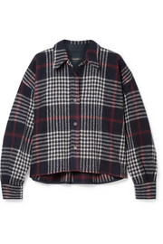 Isabel Marant Hanao plaid wool shirt