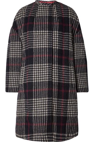 Isabel Marant Coats Harrison oversized plaid wool coat