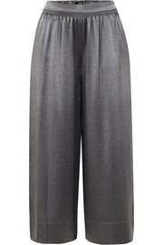 Silk-satin culottes