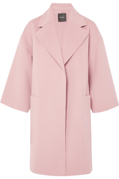 Theory - Wool And Cashmere-blend Coat - Pink