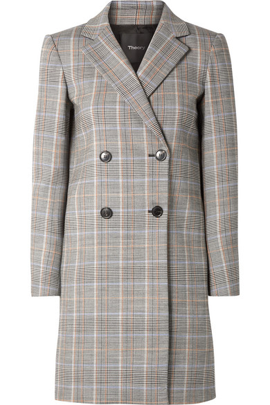 Prince Of Wales Checked Wool Blend Blazer by Theory