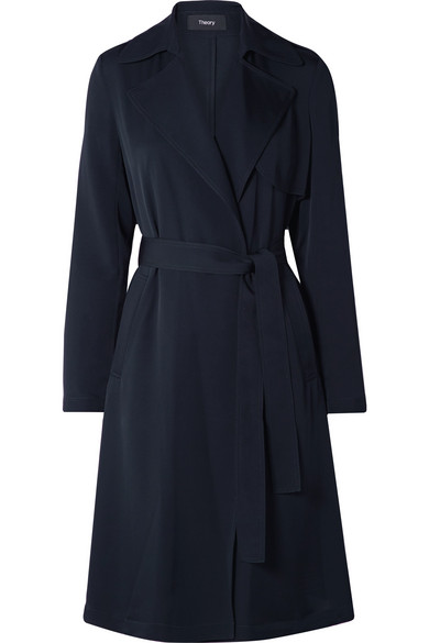 Oaklane Silk Trench Coat by Theory