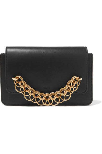 Chloe Black Drew Clutch Bag