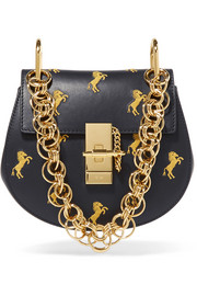 Chloé Drew Bijou mini embroidered leather shoulder bag