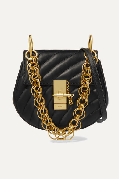 Drew Bijou Mini Quilted Leather Shoulder Bag by Chloé