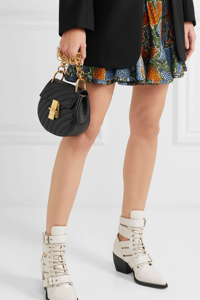 36a69b6e37c Drew Bijou mini quilted leather shoulder bag