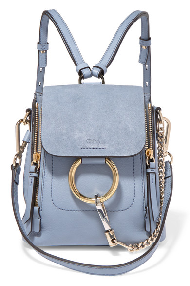 e898dd03d7 Faye mini textured-leather and suede backpack