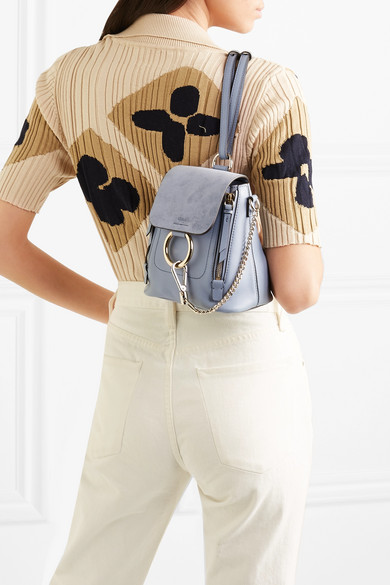 8f8f8e88 Chloé | Faye mini textured-leather and suede backpack | NET-A-PORTER.COM