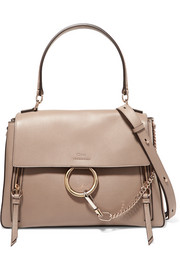 Faye Day large textured-leather shoulder bag