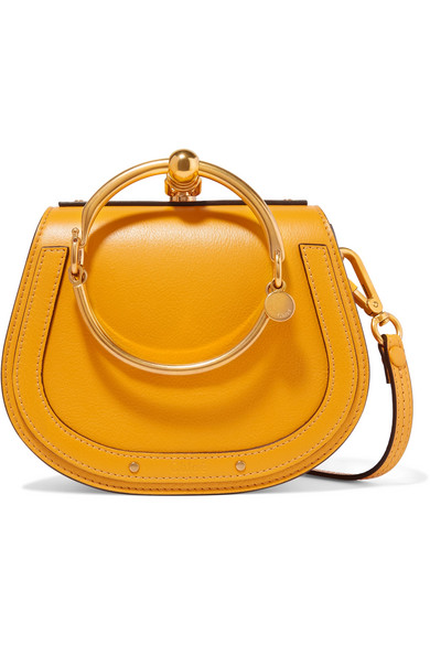 Nile Bracelet Small Textured Leather Shoulder Bag by Chloé