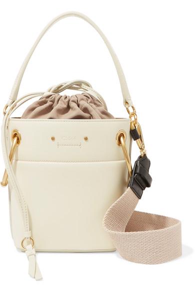 7336b05e8b52 Chloé. Roy mini leather bucket bag