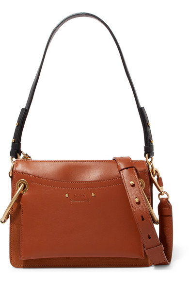 bf781ec30877a Chloé. Roy small leather and suede shoulder bag