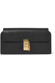 Drew textured-leather wallet