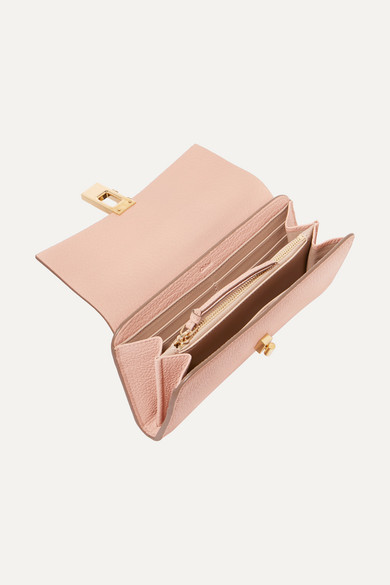 Drew Textured Leather Wallet by Chloé