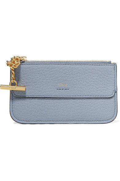 1e372215a9be7 Chloé. Drew textured-leather cardholder
