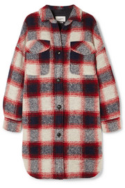 Gario oversized checked wool-blend flannel coat