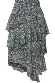 Isabel Marant Étoile Jeezon tiered printed georgette skirt