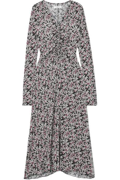Isabel Marant Étoile - Tova Floral-print Stretch-jersey Midi Dress - Black