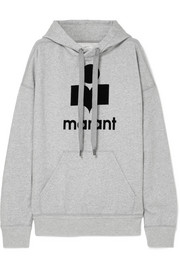 Mansel flocked cotton-blend jersey hoodie