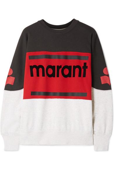 Gallian Flocked Cotton Blend Jersey Sweatshirt by Isabel Marant Étoile