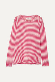 Kaaron striped linen and cotton-blend top