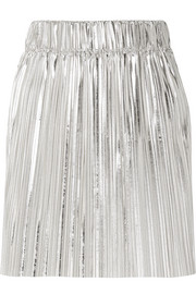 Isabel Marant Étoile Delpha plissé-lamé mini skirt