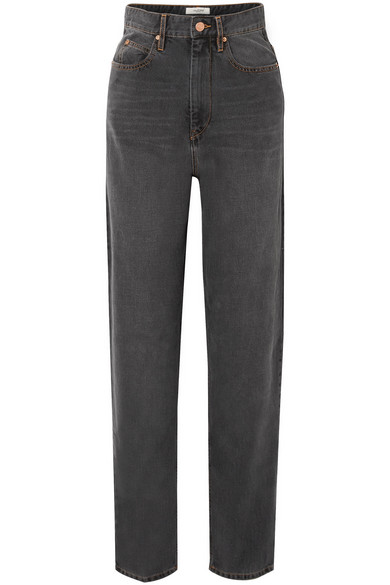 Isabel Marant Etoile Black Corsy Jeans in Anthracite