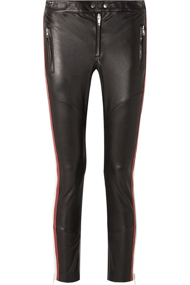 ETOILE ISABEL MARANT Aya paneled leather skinny pants