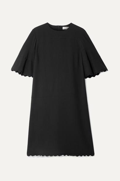 Scalloped Cady Mini Dress - Black Chlo LfUIC6sXpl