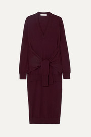 Chloé Tie-front wool midi dress