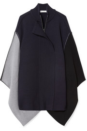 Chloé Color-block wool cape