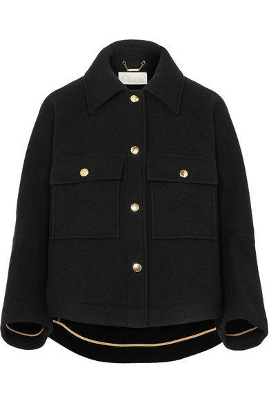 Cropped Wool Blend Jacket by Chloé
