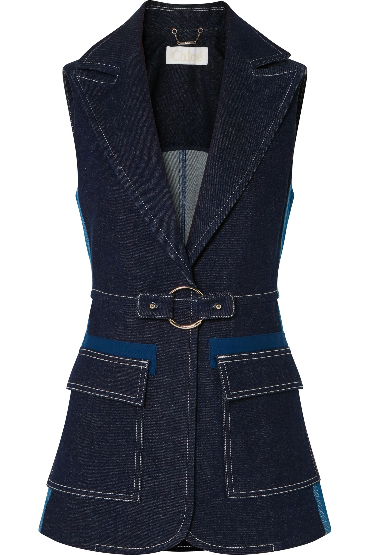 Chloé Two-tone denim vest
