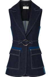 Chloé Two-tone denim vest