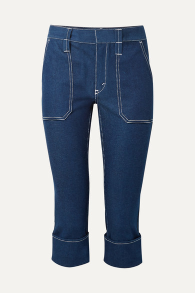 Chloé - Cropped High-rise Straight-leg Jeans - Navy