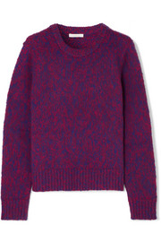 Chloé Brushed wool and cashmere-blend sweater