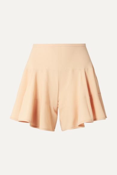 Paneled Crepe Shorts