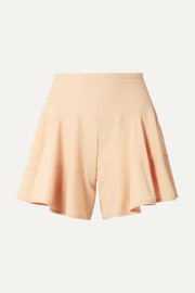 Paneled crepe shorts