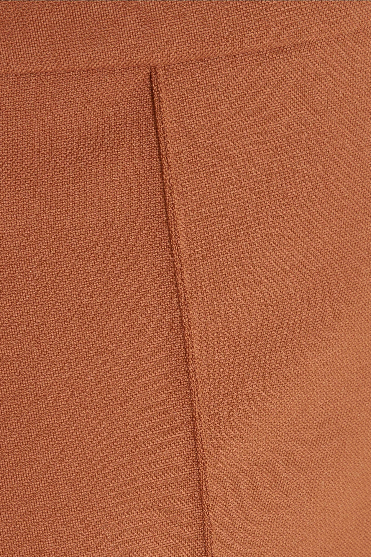 Chloé Pleated wool-blend midi skirt