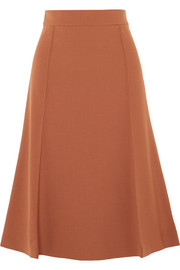 Chloé Pleated wool-blend midi skirt