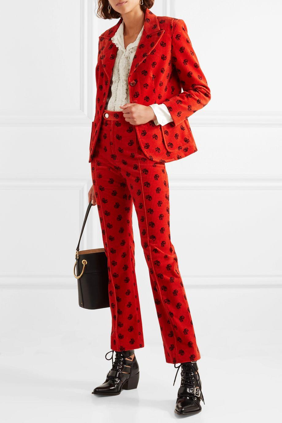 Chloé Ruffled silk-trimmed cotton-blend lace blouse